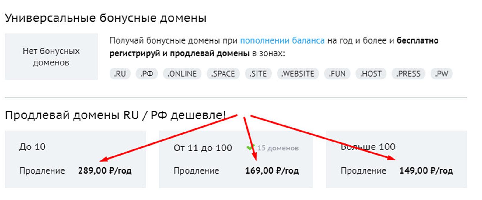 Продление домена на beget.ru